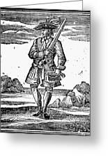 Pirate John Rackam, 1725 Greeting Card