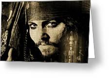 Pirate Life - Sepia Greeting Card