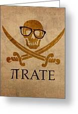 Pirate Math Nerd Humor Poster Art Greeting Card