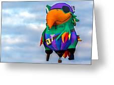 Pirate Parrot Pegleg Pete Greeting Card