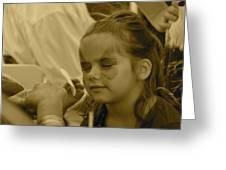 Pirate Princess Sepia Greeting Card