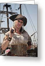 Pirate Queen With A Bad Attitude Greeting Card