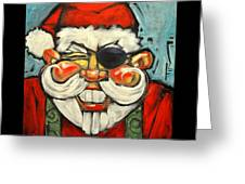 Pirate Santa Poster Greeting Card