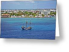 Pirate Ship In Cozumel Greeting Card