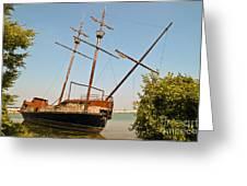 Pirate Ship Or Sailing Ship Greeting Card
