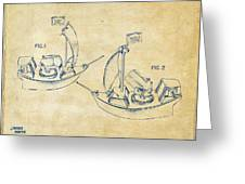 Pirate Ship Patent Artwork - Vintage Greeting Card