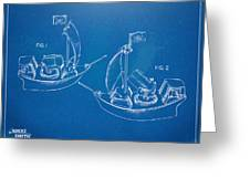 Pirate Ship Patent - Blueprint Greeting Card