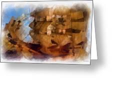 Pirate Ship Photo Art Greeting Card