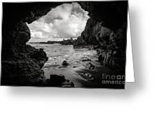 Pirate Treasure Cave Pa'iloa Beach Greeting Card