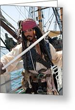 Pirate With Sword Greeting Card