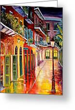 Pirates Alley By Night Greeting Card