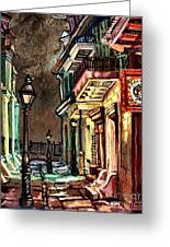 Pirate's Alley Evening Greeting Card