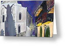Pirate's Alley French Quarter Painting  Greeting Card