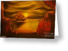 Pirates Cave- Original Sold - Buy Giclee Print Nr 27 Of Limited Edition Of 40 Prints  Greeting Card