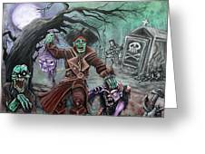 Pirate's Graveyard 2 Greeting Card