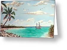 Pirates On Pavilion Key Greeting Card