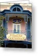Pirates Signage New Orleans Disneyland Greeting Card
