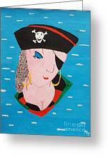 Piratess Of The Sea Greeting Card