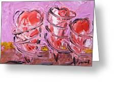 Pirouetting Hearts-musing Greeting Card