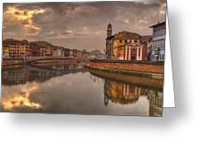 Pisa On The Arno Greeting Card