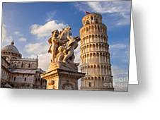 Pisa's Leaning Tower Greeting Card by Brian Jannsen
