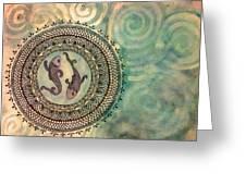 Pisces Mandala Greeting Card