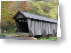 Pisgah Covered Bridge Greeting Card