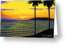 Pismo Beach California Sunset Greeting Card