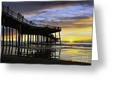 Pismo Sunset View Greeting Card