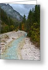 Pisnica River - Autumn - Slovenia Greeting Card