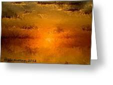Pissaro Sunet Greeting Card