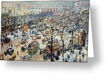 Pissarro's Boulevard Des Italiens In Morning Sunlight Greeting Card