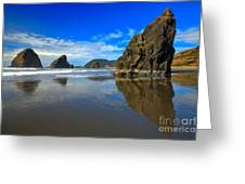 Pistol River Sea Stacks Greeting Card by Adam Jewell