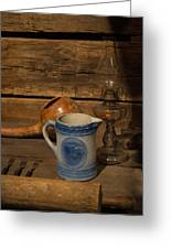 Pitcher Cup And Lamp Greeting Card