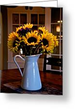 Pitcher Of Sunflowers Greeting Card