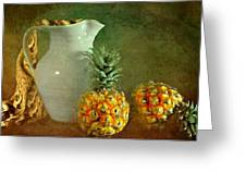 Pitcher With Pineapples Greeting Card