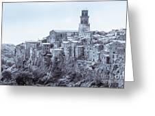 Pitigliano  Stands On An Abrupt Tuff Butte High Above The Olpeta Greeting Card