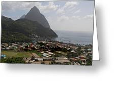 Pitons St. Lucia Greeting Card