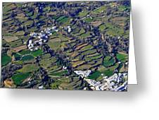 Pitres And Capilerilla From The Air Greeting Card