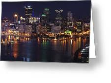 Pittsburgh After The Setting Sun Greeting Card