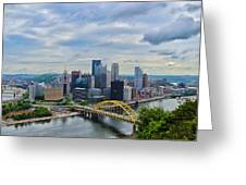 Pittsburgh And Above Greeting Card