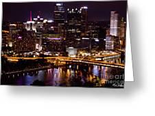 Pittsburgh At Night Greeting Card