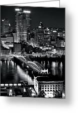 Pittsburgh Black And White  Greeting Card