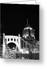Pittsburgh Bridge Greeting Card by Josh Ebel