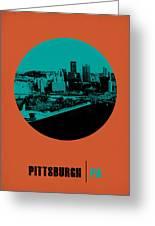 Pittsburgh Circle Poster 1 Greeting Card