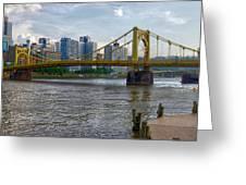 Pittsburgh Clemente Bridge Greeting Card