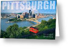 Pittsburgh Digital Painting Greeting Card