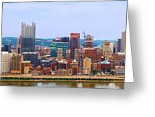 Pittsburgh From Grandview Greeting Card