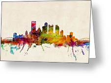 Pittsburgh Pennsylvania Skyline Greeting Card