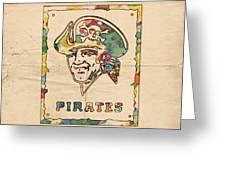 Pittsburgh Pirates Vintage Art Greeting Card